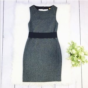 Alice & Olivia Gray Sleeveless Mini Midi Dress
